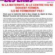 NI LA MATERNITE, NI LE CENTRE IVG NE DOIVENT FERMER. oct 2014-1