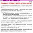 Tract Non aux fermetures de classes ! avril 2015